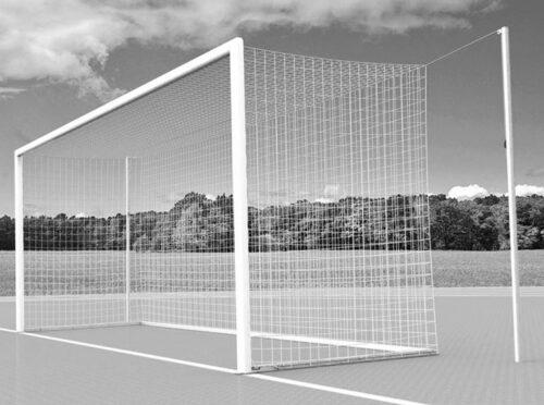 Fussballtor mit freier Netzaufhängung