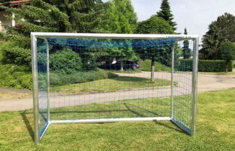 Mini-Fußballtor Oval Garten mit Netz